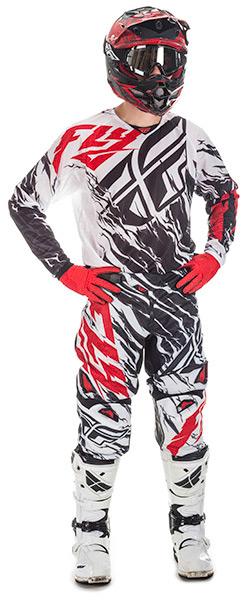 2017.5 Kinetic Mesh Relapse Racewear Black/White/Red