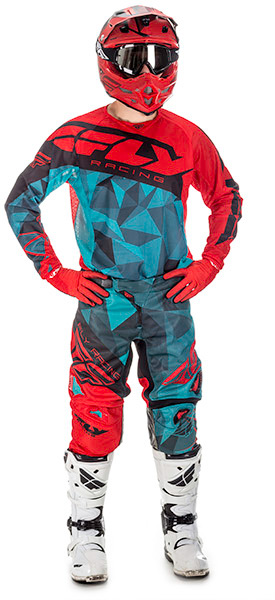 2017.5 Kinetic Mesh Racewear Crux Teal/Red/Black