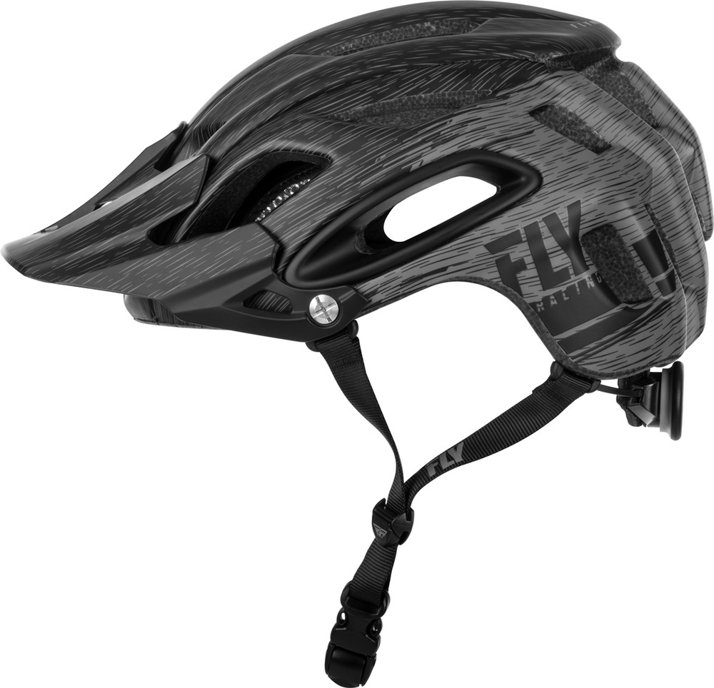 Freestone Ripa Black Grey Helmet Fly Racing Motocross Mtb Bmx