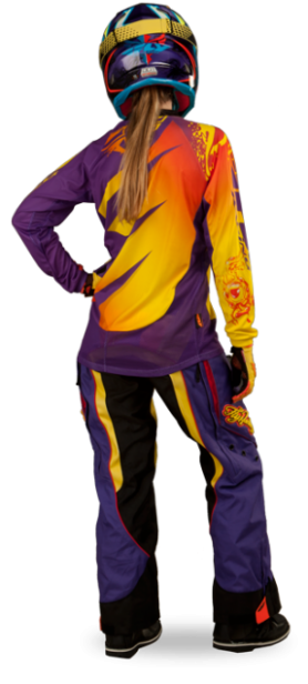 Kinetic Girl's Boot-Cut Purple/Yellow