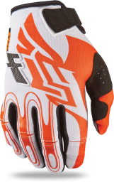 Kinetic Glove Orange/White