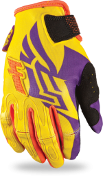 Kinetic Girl's Glove Purple/Yellow
