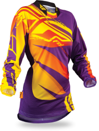 Kinetic Girl's Jersey Purple/Yellow