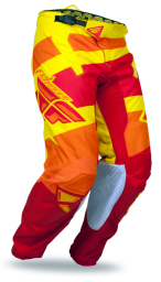 Kinetic Blocks Pant Red/Yellow