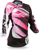 Kinetic Girl's Boot-Cut Black/Pink Jersey