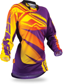Kinetic Girl's Boot-Cut Purple/Yellow Jersey
