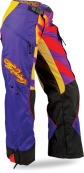 Kinetic Girl's Boot-Cut Purple/Yellow Pant