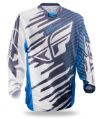 Kinetic Shock Mesh Blue/White Jersey