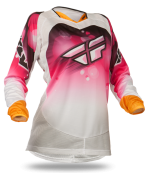 Kinetic Girl's Pink/White Race Jersey