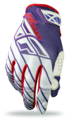 Purple/Red/White Glove