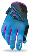 Kinetic Girl's Blue/White Race Glove