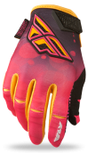 Kinetic Girl's Pink/White Race Glove