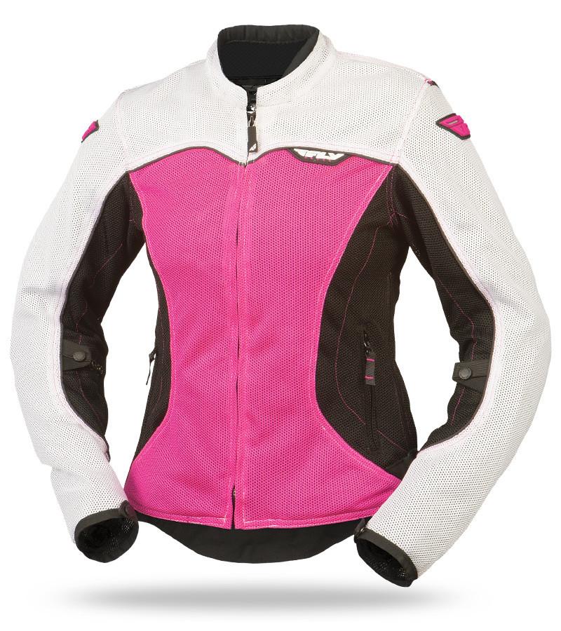 956ec4d47fdd7 Flux Air Mesh Ladies White Pink Jacket
