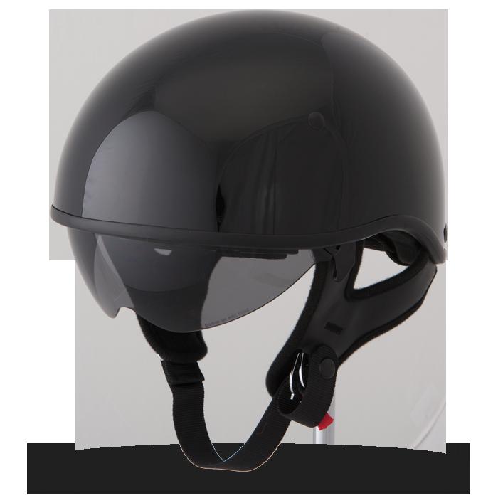 17ff715d653f 357 Half Gloss Black Helmet
