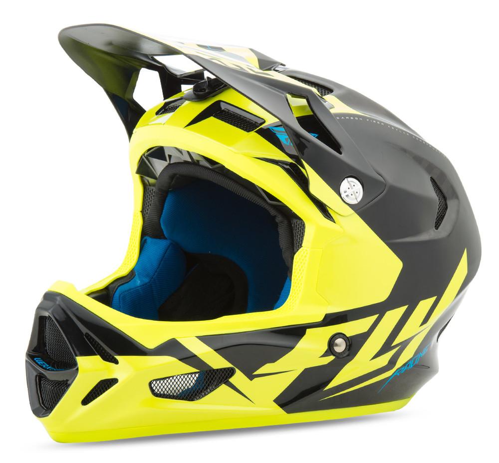 Werx Ultra Black Hi Vis Helmet Fly Racing Motocross